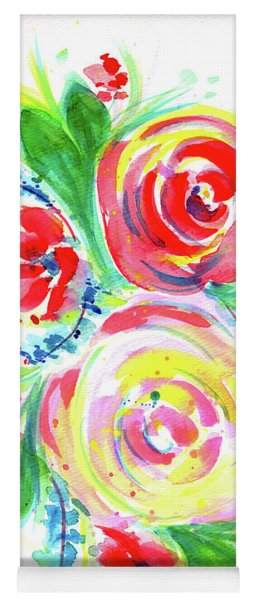 Rose Red Rose Yellow  Yoga Mat