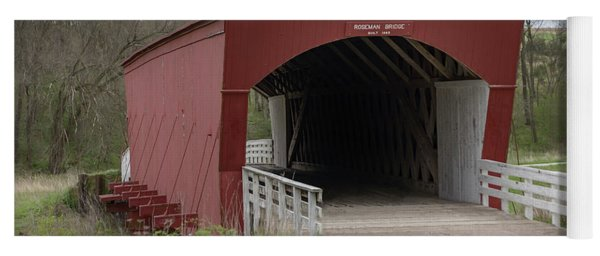 Roseman Covered Bridge - Madison County - Iowa Yoga Mat