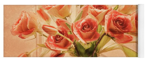 Roses And Tulips Yoga Mat