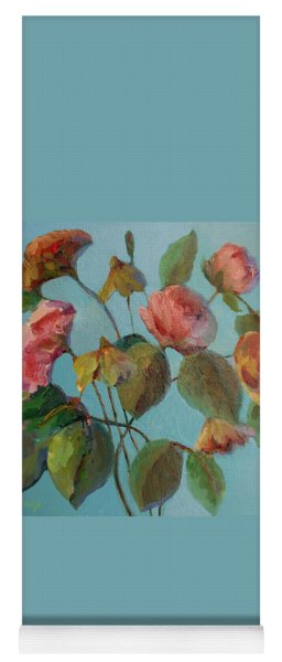 Roses And Wildflowers Yoga Mat