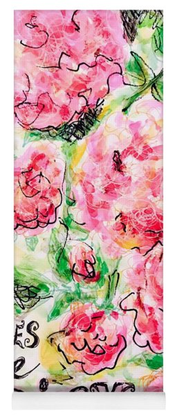 Roses Are Pink Yoga Mat