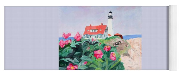 Roses At Portland Headlight Yoga Mat