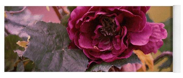Roses In Oils Yoga Mat