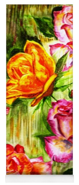 Roses In The Valley  Yoga Mat