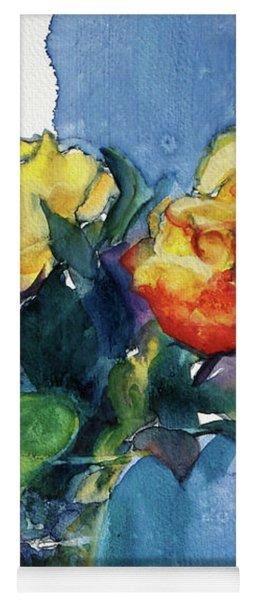Roses In Vase Still Life I Yoga Mat