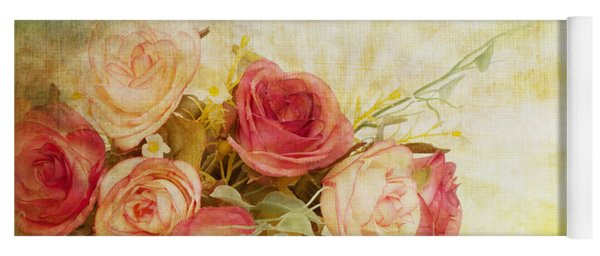Roses Pattern Retro Design Yoga Mat