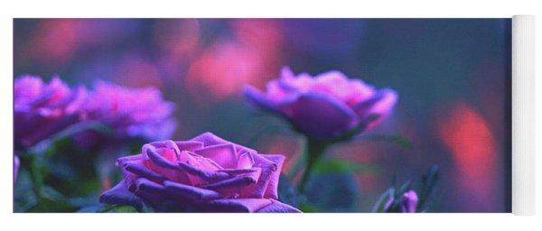Roses With Evening Tint Yoga Mat