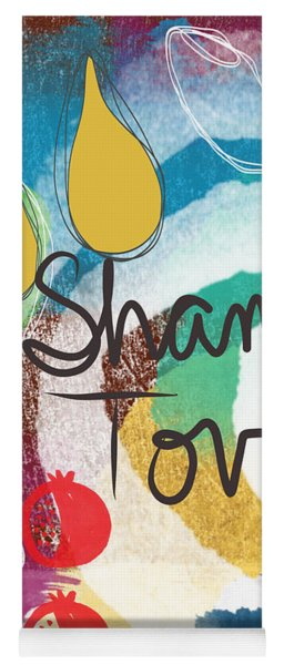 Rosh Hashanah Sampler- Art By Linda Woods Yoga Mat