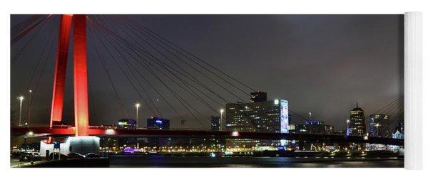 Rotterdam - Willemsbrug At Night Yoga Mat