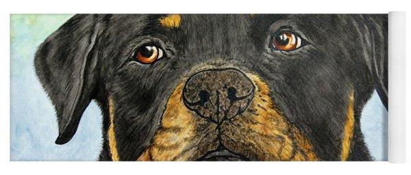 Rottweiler's Sweet Face 2 Yoga Mat
