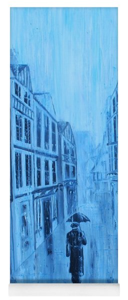 Rouen In The Rain Yoga Mat