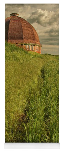 Yoga Mat featuring the photograph Round Barn by Bob Cournoyer