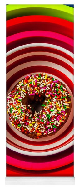 Round Bowl With Donut Yoga Mat
