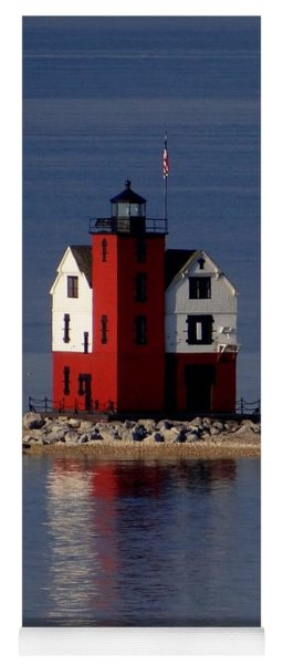 Round Island Lighthouse In The Morning Yoga Mat