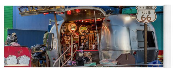 Route 66 And Airstream On Tha Pier Yoga Mat