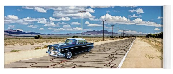 Yoga Mat featuring the painting Route 66 Newberry Springs California by Christopher Arndt