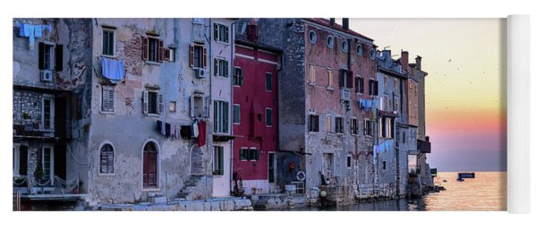 Rovinj Old Town On The Adriatic At Sunset Yoga Mat