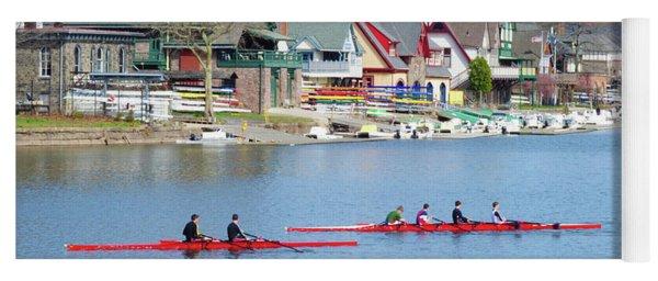 Rowing Along The Schuylkill River Yoga Mat