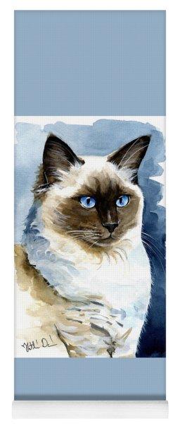 Roxy - Ragdoll Cat Portrait Yoga Mat