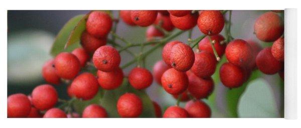 Ruby Red Berries Yoga Mat