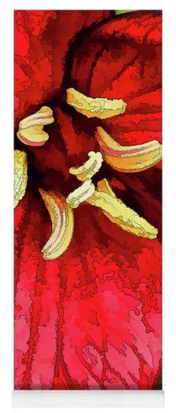Ruby Red Trillium Yoga Mat