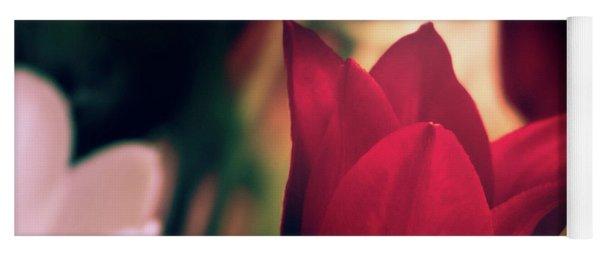 Ruby Red Tulip Yoga Mat