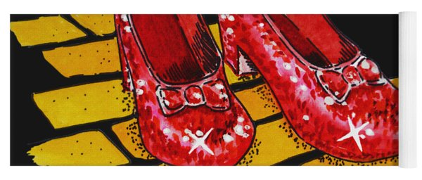 Ruby Slippers From Wizard Of Oz Yoga Mat