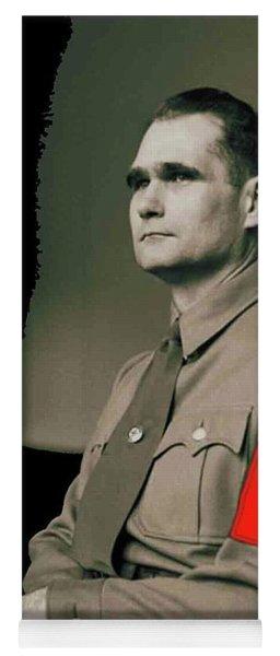 Rudolf Hess Portrait Circa 1935 Color Added 2016 Yoga Mat