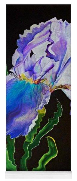 Ruffled Iris Yoga Mat