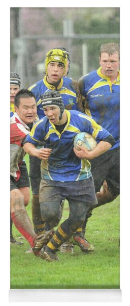 Rugby In The Mud Yoga Mat