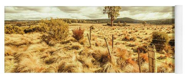 Rugged Australian Pastures Yoga Mat
