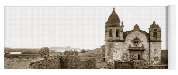 Ruins Of Carmel Mission, Monterey, Cal. Circa 1882 Yoga Mat