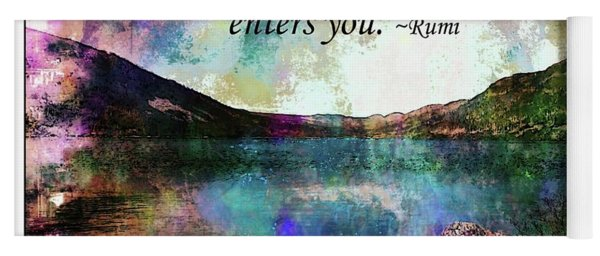 Rumi Quote - The Wound Yoga Mat
