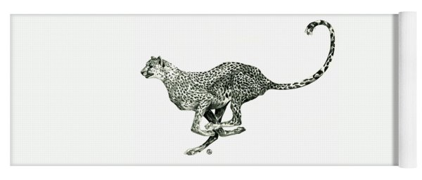 Running Cheetah Yoga Mat