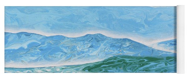 Running Dogs Clouds And Mountains Yoga Mat
