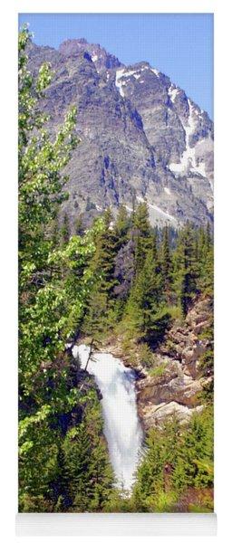 Running Eagle Falls Glacier National Park Yoga Mat