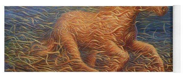 Running Swirly Horse Yoga Mat