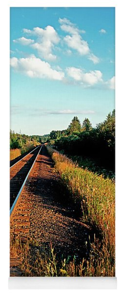 Rural Country Side Train Tracks Yoga Mat