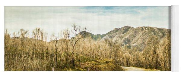 Rural Road To Australian Mountains Yoga Mat