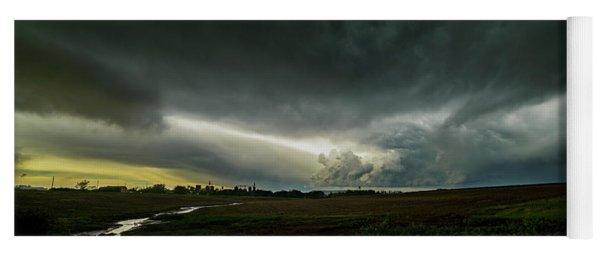 Rural Spring Storm Over Chester Nebraska Yoga Mat