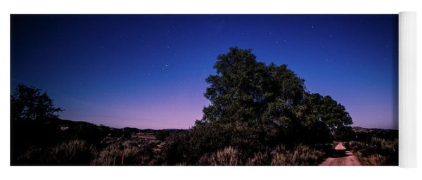 Yoga Mat featuring the photograph Rural Starlit Road by T Brian Jones