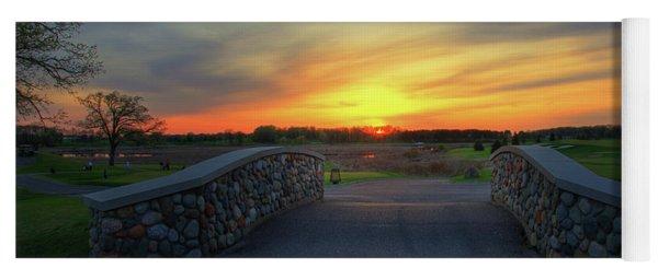 Rush Creek Golf Course The Bridge To Sunset Yoga Mat