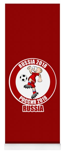 Russian Player In The Soccer World Cup Russia 2018 Yoga Mat
