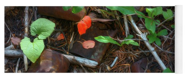 Yoga Mat featuring the photograph Rusted Beauty by Sharon Seaward