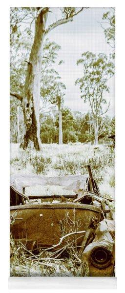 Rustic Australian Car Landscape Yoga Mat