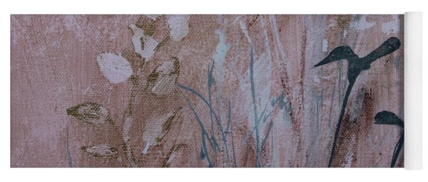 Yoga Mat featuring the painting Rustic Breeze by Robin Maria Pedrero