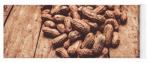 Rustic Country Peanut Heart. Natural Foods Yoga Mat