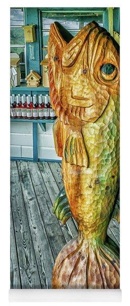 Rustic Fish Yoga Mat