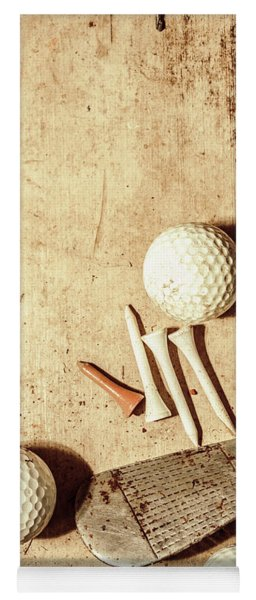 Rustic Golf Club Memorabilia Yoga Mat