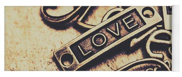 Rustic Love Icons Yoga Mat